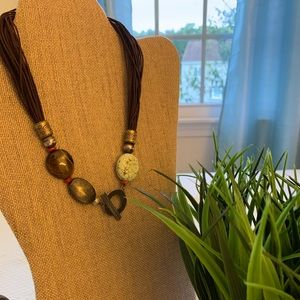 Silpada leather and semiprecious stone